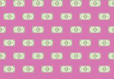 Financial Cash Paper Banknote Seamless Pattern. Financial Cash Paper In A Row Banknote Seamless Pattern Background Stock Photo
