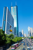 Financial center building  Shenzhen city main avenue Royalty Free Stock Images