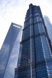 Financial Center, Jin Mao and Shanghai Towers Stock Image