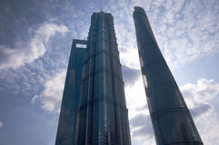 Financial Center, Jin Mao and Shanghai Towers Stock Images