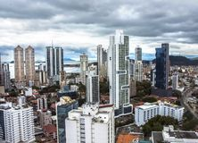 Financial center of Panama City, Panama Royalty Free Stock Photography
