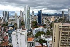 Financial center of Panama City, Panama Royalty Free Stock Photo