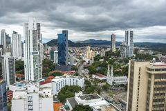 Financial center of Panama City, Panama Stock Image