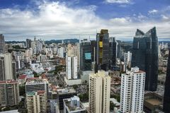 Financial center of Panama City, Panama Stock Photos