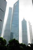 Financial Center and Shanghai Tower Stock Image