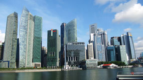 Financial center of Singapore Royalty Free Stock Image