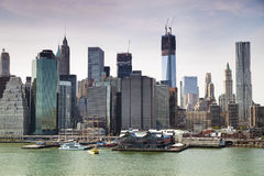 Financial Centre of Manhattan, New York Royalty Free Stock Images