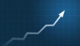 Financial chart vector illustration