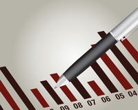 Financial chart. With a pen, Financial report Stock Photos