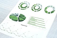 Financial chart Stock Photos