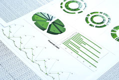 Financial chart Stock Image