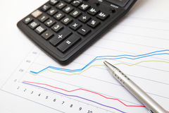 Financial chart Royalty Free Stock Images