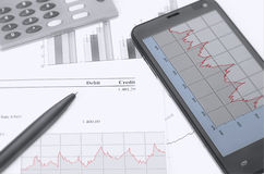 Financial chart stock photography