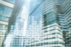 Financial chart on blurred skyscraper office background. Financial chart on blurred skyscraper office background royalty free stock images