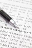 Financial chart Royalty Free Stock Photos