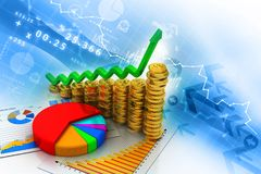 Financial chart and graphs background. Stock market analysis Royalty Free Stock Photo
