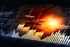 Financial chart and graphs background. Stock market anylis Royalty Free Stock Photos