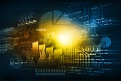Financial chart and graphs background. Stock market anylis Stock Images