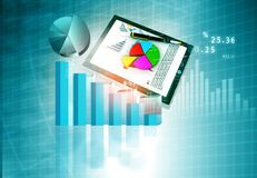 Financial chart and graphs background. Stock market analysis Royalty Free Stock Photos