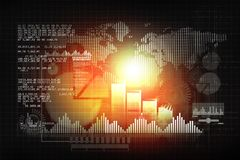 Financial chart and graphs background. Stock market anylis Stock Photos
