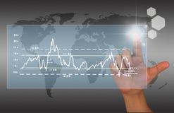 Financial chart Royalty Free Stock Photo