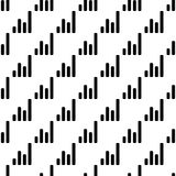 Financial chart icon in Pattern style. On white background Royalty Free Stock Photo