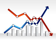Financial chart illustration design Stock Photos