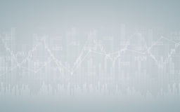 Financial chart with line graph, bar chart and stock numbers in stock market on gradient gray color background. Financial chart with line graph, bar chart and Stock Image