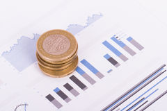 Financial Chart with Money Stock Photo