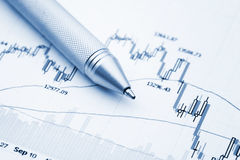 Financial chart Stock Images