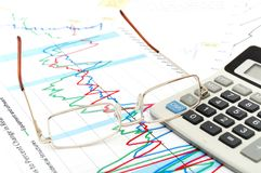 Financial Chart And Report Royalty Free Stock Image