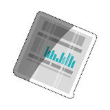 Financial chart report Royalty Free Stock Photos