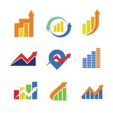 Financial Chart Symbol Sign Package. Vector Illustration Graphic Design Stock Photos