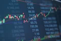 Financial chart with up trend line graph. Business candle stick graph chart of stock market investment trading. Financial chart with up trend line graph stock image