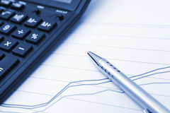 Financial chart work Stock Photography