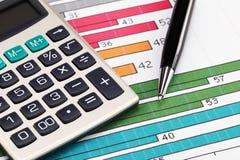 Financial charts Stock Photos