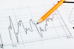 Financial charts Stock Images