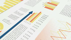 Financial charts stock video