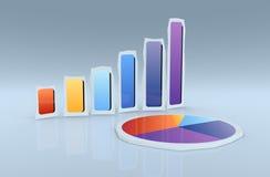 Financial charts Stock Image