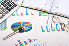Financial charts Stock Photos