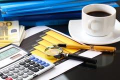 Financial charts and graphs Stock Photos