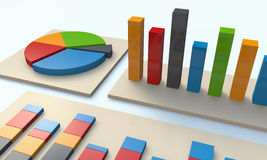 Financial charts and graphs stock photography