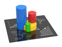 Financial charts and graphs. Business diagrams on financial report Royalty Free Stock Images