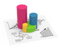 Financial charts and graphs. Business diagrams on financial report Royalty Free Stock Photography