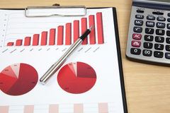 Financial charts and graphs Royalty Free Stock Images