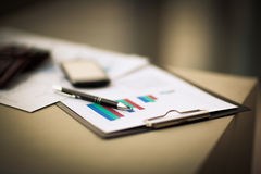 Financial charts and graphs Royalty Free Stock Photography