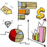 Financial Charts Icon Set Stock Image