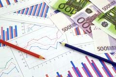 Financial charts Royalty Free Stock Image