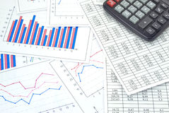 Financial charts Royalty Free Stock Photography