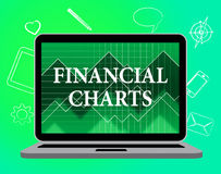 Financial Charts Means Web Site And Business Stock Image